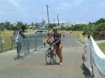Olympic female champion in 2004 St Kitts Triathlon after completing bike course