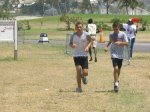 Junior sprint champion in 2004 St Kitts Triathlon and friend on final leg of the Sprint Race