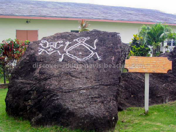 Carib Petroglyphs at Wingfield Road, Old Road, St Kitts