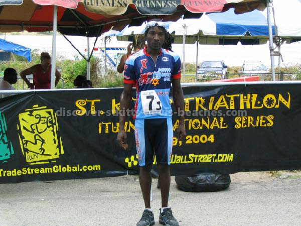 Lesroy 'Snake' Queeley at the St Kitts Triathlon