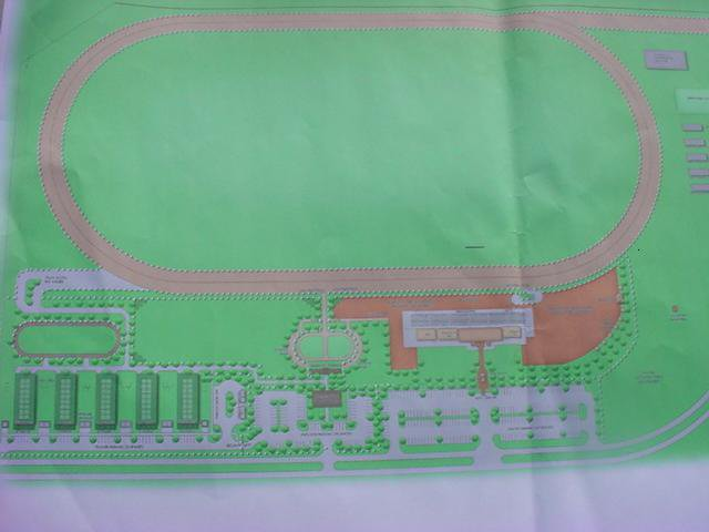 Atrist's concept of Beaumont Park Race Track, St. Kitts