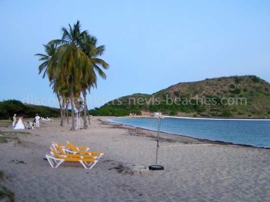 Destination wedding in St Kitts at Cockleshell Beach