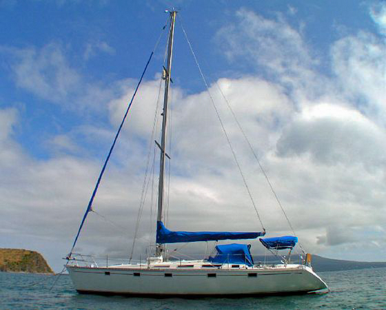 Photo of sailing sloop Sea Dreamer owned by Captain Les Windley.