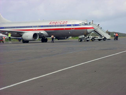 Photo of American Airlines at Robert L Bradshaw International Airport in St. Kitts