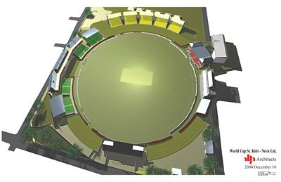 Artist's impression of new Warner Park Staduium
