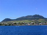 Basseterre, St Kitts from sea