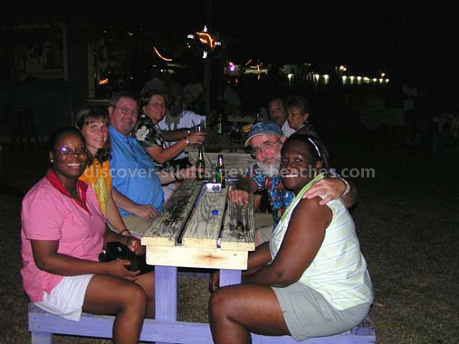 St Kitts Nevis Travel Forum Members at Shiggidy Shack in Frigate Bay.
