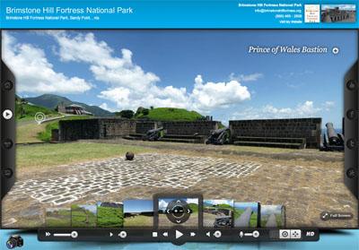 Brimstone Hill Fortress National Park St. Kitts Virtual Tour screen shot