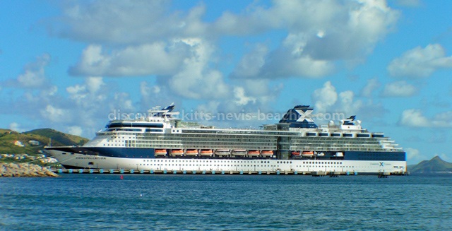 Celebrity Cruises Constellation docked at Port Zante in St. Kitts