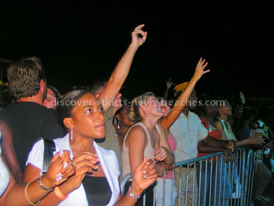 Fans enjoying the St Kitts Music Festival