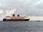 Photo 11: Disney Wonder and Nevis inter-island ferry Mark Twain