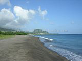Eastern section of Beach at Belle Tete in Sandy Point, St Kitts