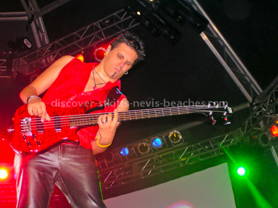 Guitarist performing at the St Kitts Music Festival