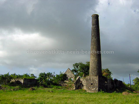 La Valle sugar estate ruins in Sandy Point, St. Kitts