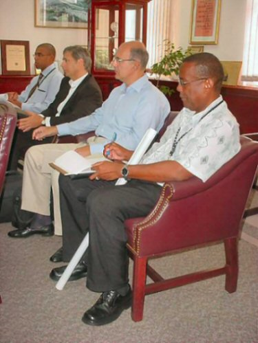 Monplaisir Group and St. Kitts and Nevis officials at meeting to discuss hotel and villa development around the La Valle Golf Course.
