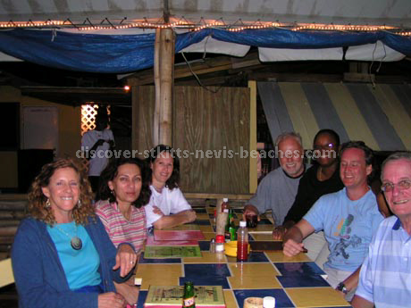 St Kitts Nevis travel forum members and friends link up at Mr X Shiggidy Shack at South Frigate Bay in St. Kitts