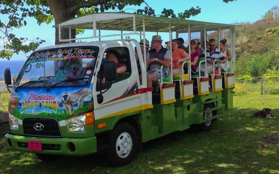 Poinciana Tours Safari vehicle.