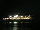 Queen Mary at night in the Basseterre