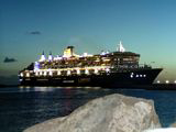 Queen Mary 2 lighted up