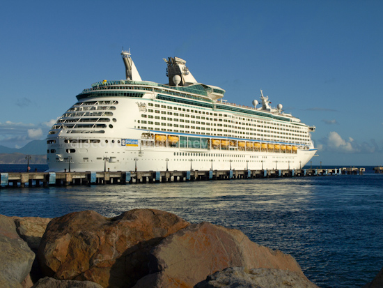 Royal Caribbean Cruise Lines Adventure of the Seas at Port Zante in Basseterre, St. Kitts