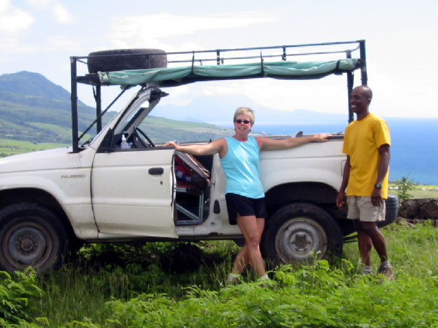 Royston Tours vehicle, St Kitts