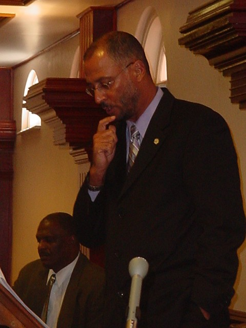 Honourable Richard Ricky Skerritt making contribution in Parliament in St. Kitts