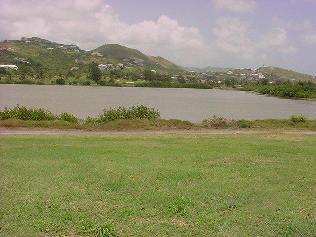 Salt pond at South Frigate Bay
