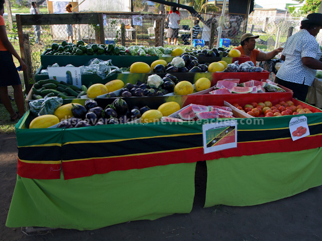 Farmer's stall at the 2013 St Kitts Agriculture Open Day