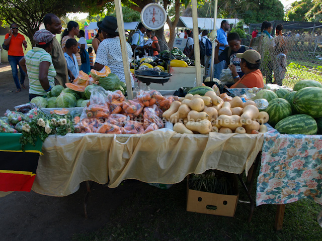 Farmer's stall at 2013 St Kitts Agriculture Open Day