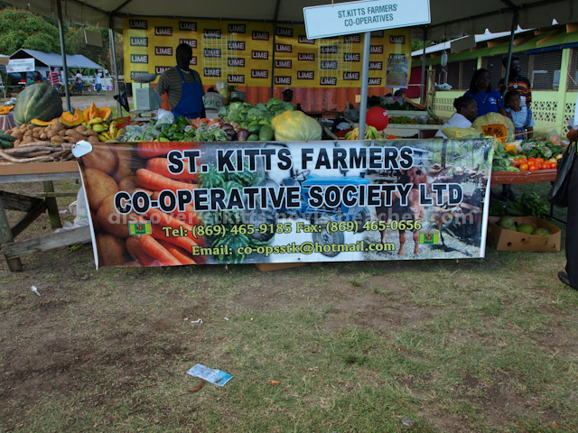 St Kitts Farmer's Cooperative Society stall