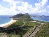 St Kitts beaches - View of Friars Bay from Sir Timothy Hill lookout above