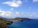 St Kitts Beaches - White House Bay in the distance