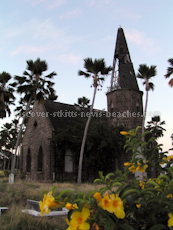 St Kitts heritage sites photos - Old Chapel in Springfield Cemetery in Basseterre St Kitts