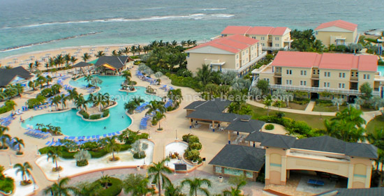 St Kitts Marriott Resort pool and poolside accommodations
