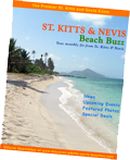 St. Kitts Nevis Beach Buzz newsletter/ezine cover