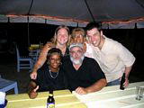 St Kitts and Nevis Travel Forum Members and Friends at Mr X Shiggidy Shack in August 2004