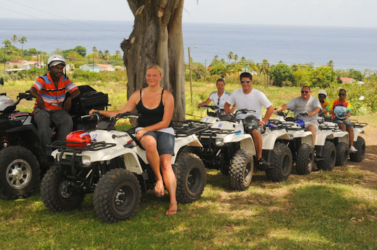 St Kitts quad bike tour information stop