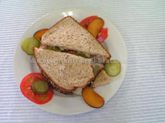 St Kitts Food Photo - sandwich from AVEC Sandwich and Cake Decorating Competition.