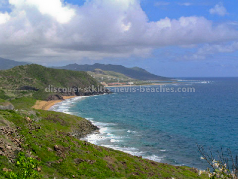 St Kitts Southeast Peninsula Safari photo - the Atlantic coast overlooking North Friars Bay towards the St Kitts Marriott Resort in the distance