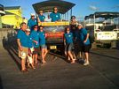 St Kitts tours and Island Safaris with Captain Sunshine Tours. St Kitts photo of Captain Sunshine Tours open air safari jeep at Port Zante.