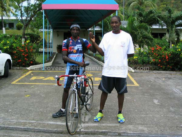 Kittitian and Grenadian cyclists in 2004 St Kitts Triathlon