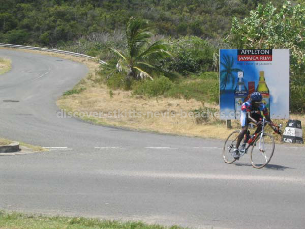Kittitian Cyclist Lesroy 'Snake' Queeley in the 2004 St Kitts Triathlon
