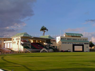 Players Pavilion and Media Center at the new Warner Park Cricket Stadium in St. Kitts