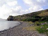 St Kitts Beaches - White House Bay showing rocky shoreline.
