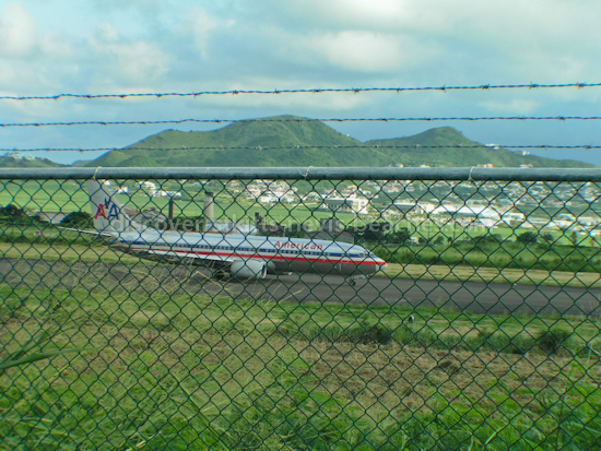American Airlines at Robert L Bradshaw International Airport in St Kitts.