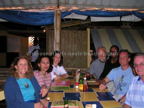 Photo of St Kitts Nevis forum members at Mr. X Shiggiddy Shack in Frigate Bay
