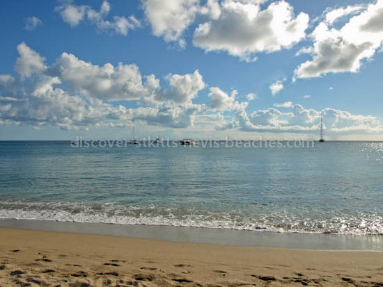 Calm waters at South Frigate Bay Beach, St Kitts