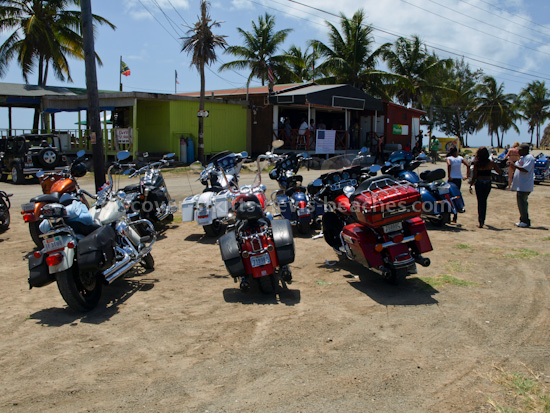 ETA Motorcycle Cruisers at Family and Friends Beach Bar at South Frigate Bay Beach, St Kitts