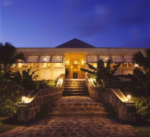 Nisbet Plantation Inn Great House at Night, Nevis