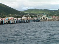 Pier at the Port Zante cruise ship berthing facility in St. Kitts